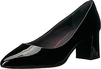 9dfeb814da2d Rockport Womens Total Motion Salima Dress Pump, Black Patent, 9 W US