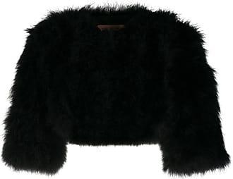 Yves Salomon Short Feather Bolero jacket - Black