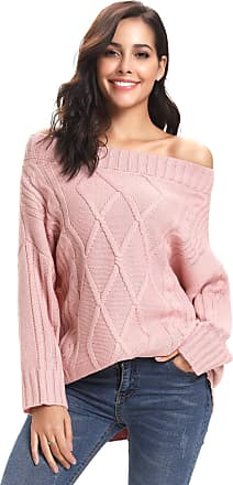 Ladies Casual Everyday Chunky Knitwear Long Sleeve Off The Shoulder Young Fashion Trendy Knitted Jumpers Roman Originals Women Lounge Bardot Jumper