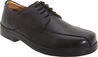 Roamers Mens XXX Extra Wide 4 Eye Tramline Gibson Shoes (11 UK) (Black)