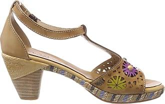Laura Vita Womens Belfort 88 T-Bar Sandals, Beige, 6 UK