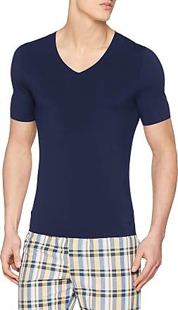 sloggi Mens Zero Feel V-Neck Vest, Blue (Deep Water 6722), X-Large (Size: 7)