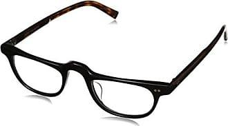 John Varvatos Mens V804 Rectangular Reading Glasses, Black UF, 1