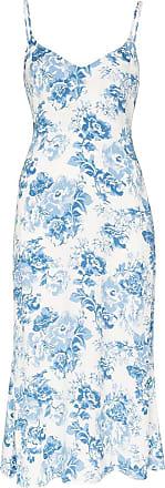 Reformation Slip dress Chianti com estampa floral - Azul