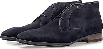 Floris Van Bommel Dunkelblauer Wildleder-Schnürschuh, Business Schuhe, Handgefertigt