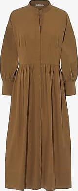Three Graces London Peppa Dress in Tan