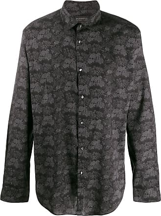 John Varvatos floral long-sleeve shirt - Preto