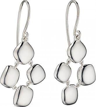 Acotis Limited Elements Silver ORose Goldanic Pebble Drop Earrings E5672