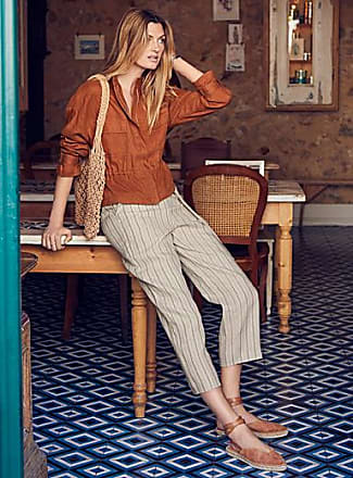 Contemporaine Striped pure linen pant