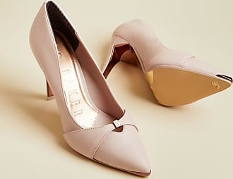 Ted Baker Leather Bow Strap Court Shoes in Pink AXEALIL, Womens Accessories