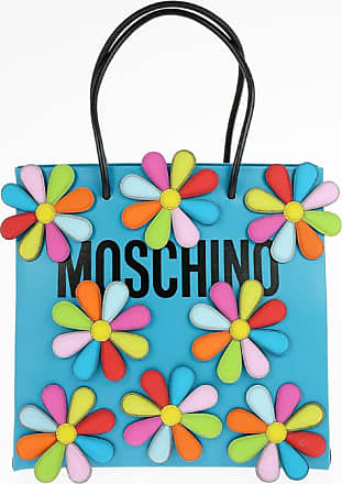 Moschino Leather Tote Bag with Floral Applications Größe Unica
