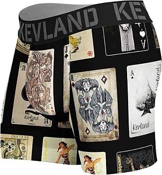 Kevland Underwear cueca boxer kevland cartas baralho preto (1, GG)