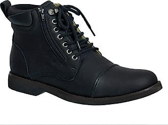 Doctor Shoes Antistaffa Coturno Masculino Gel Anatômico em Couro Preto Graxo 8616 Doctor Shoes-Preto-41