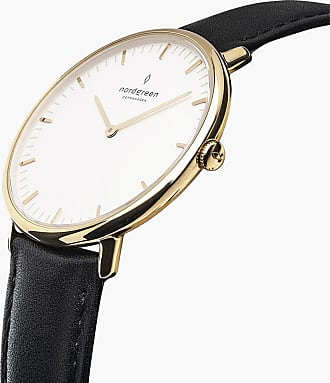 Nordgreen Native - Gold | Black Leather - 36mm / Gold