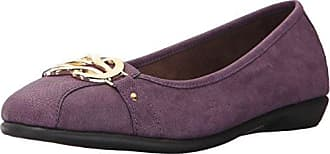 Aerosoles Womens HIGH Bet Ballet Flat, Purple Snake, 10.5 W US