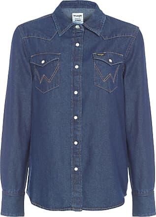 Wrangler Camisa Jeans Import Wrangler - Azul