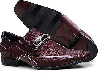 Calvest Sapato Social Masculino Calvest Bordo com Metal Dourado 1930C229B - 37