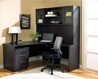 Unique Furniture Desk with Hutch and Filing Cabinet and Optional Chair Espresso - JOLL204-1