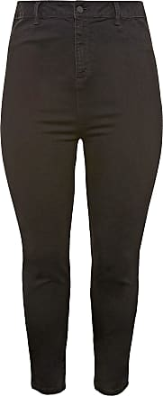 Yours Clothing Clothing Womens Kim Super High Rise Skinny Jeans Ladies Plus Size Size 28 Black