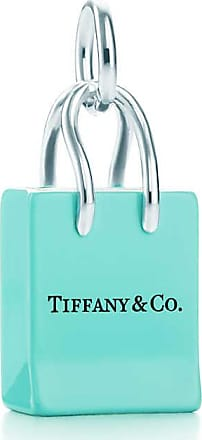Tiffany & Co. Tiffany & Co shopping bag charm in sterling silver with enamel finish