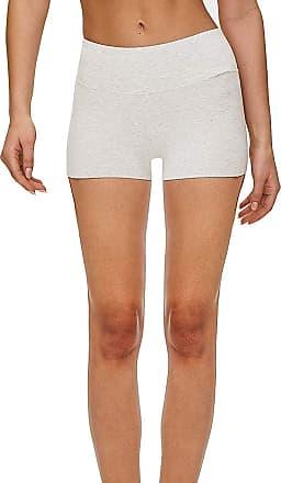 iLoveSIA Womens Knickers Yoga Gym Pants Stretch Boy Shorts Pale Gray L