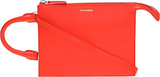Jil Sander Logo-embossed Shoulder Bag Womens Red