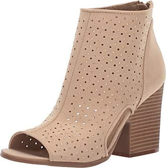 f822b8720 Rampage Womens Vionna Perforated Side Cutout Peep Toe Block Heel Ankle  Bootie Boot