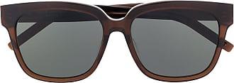 Saint Laurent Eyewear Óculos de sol Monogram SL M40 - Marrom