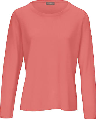 include Round neck jumper in pure new wool and cashmere include orange