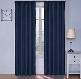 Eclipse 42 x 84 Insulated Darkening Single Panel Rod Pocket Window Treatment Living Room, Denim