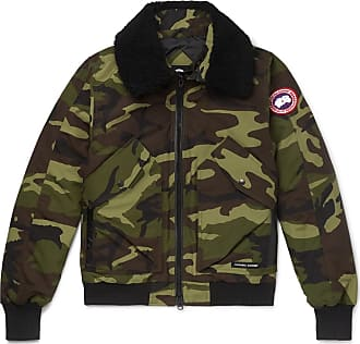 9997bb110ba3f Canada Goose Bromley Shearling-trimmed Camouflage-print Shell Down Bomber  Jacket - Army green