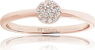Sif Jakobs Jewellery Ring Grezzana - 18k rose gold plated with white zirconia