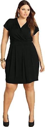 Quintess Vestido Plus Size Preto Feminino