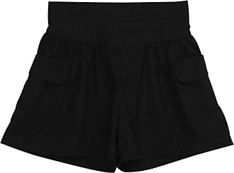 JERFER Women Plus Size Solid Loose Hot Pants Pockets Lady Summer Casual Shorts Pants for Women Summer Trousers Black