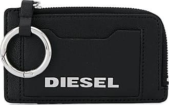 Diesel Carteira com placa de logo - Preto