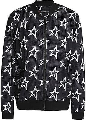 48998f05b6d2 Perfect Moment Perfect Moment Woman Printed Mesh Bomber Jacket Black Size XS