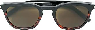 Saint Laurent Eyewear Óculos de sol oval - Preto