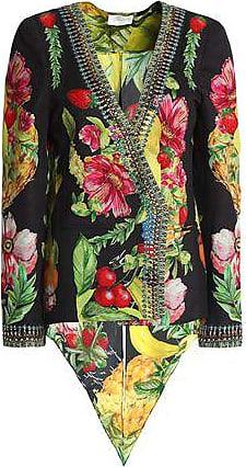 Camilla Camilla Woman Call Me Carmen Embellished Printed Crepe De Chine Jacket Black Size XS