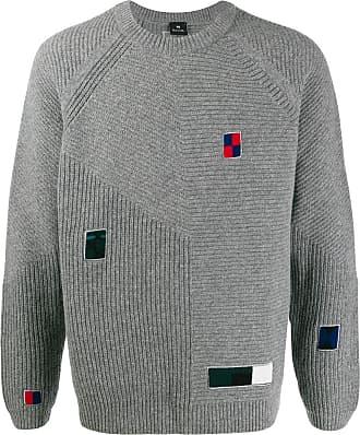 Paul Smith Suéter de tricô com patches - Cinza