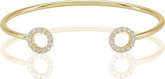 Sif Jakobs Jewellery Bangle Biella - 18k gold plated with white zirconia