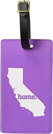 Graphics & More Graphics & More California Ca Home State Luggage Suitcase Id Tags-Solid Lavender Purple, White