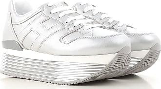 9ca190eeb82 Hogan Sneaker Femme Pas cher en Soldes Outlet, Argent, Cuir, 2017, 8.5