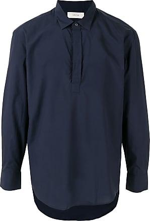 Cerruti concealed placket shirt - Blue