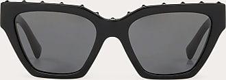 Valentino Valentino Occhiali Occhiale Da Sole Squadrato In Acetato Uomo Nero Acetato 100% OneSize