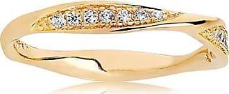 Sif Jakobs Jewellery Ring Cetara - 18K vergoldet mit weißen Zirkonia