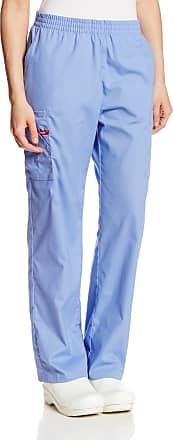 Dickies Womens Petite EDS Signature Scrubs Missy Fit Pull-On Cargo Pant, Ceil Blue, Medium/Petite