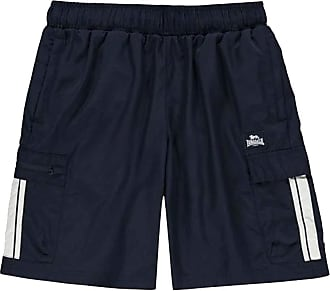 Lonsdale Mens Cargo Shorts Mesh Lining (Navy, XXXX Large)