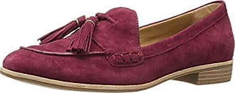 G.H. Bass & Co. Womens Estelle Pointed Toe Flat, Cherry, 6 M US