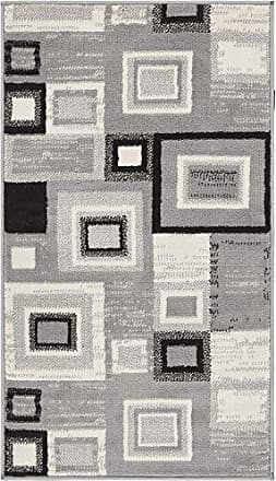 Well Woven 84383 Sensation Squares Modern Area Rug 23 x 311 Grey