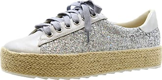 Saute Styles Girls Flat Espadrilles Kids Lace Up Sneakers Glitter Pumps Trainers Shoes Size 30